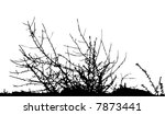 bush / silhouette / vector Ideally for your use - stock vector