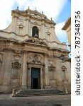 Small photo of Ancient Baroque church, sant Irene facade, Lecce , Italy