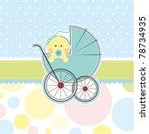 baby boy banner | Shutterstock .eps vector #78734935