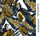 tropical seamless pattern with... | Shutterstock .eps vector #787350976