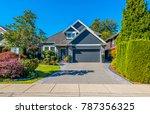 big custom made luxury house... | Shutterstock . vector #787356325