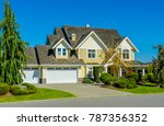 big custom made luxury house... | Shutterstock . vector #787356352