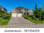 big custom made luxury house... | Shutterstock . vector #787356355
