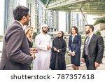 multiethnic group of... | Shutterstock . vector #787357618