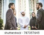 multiethnic group of... | Shutterstock . vector #787357645