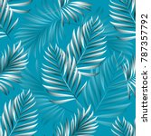 pattern of tropical palm ... | Shutterstock .eps vector #787357792