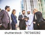 multiethnic group of... | Shutterstock . vector #787360282