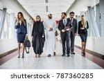 multiethnic group of...   Shutterstock . vector #787360285