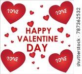 love clip art  silhouette and... | Shutterstock .eps vector #787362532