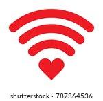 wifi heart icon | Shutterstock .eps vector #787364536