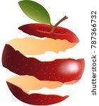 red apple peel   illustration | Shutterstock .eps vector #787366732
