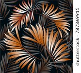 pattern of tropical palm ... | Shutterstock .eps vector #787369915