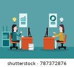 business women working in... | Shutterstock .eps vector #787372876