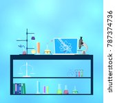 scientific laboratory concept...   Shutterstock .eps vector #787374736
