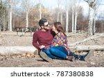 boyfriends looking at each... | Shutterstock . vector #787380838