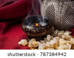 Frankincense Burning On A Hot...