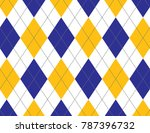 blue and yellow argyle... | Shutterstock .eps vector #787396732
