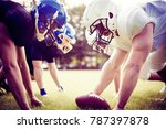 american football players... | Shutterstock . vector #787397878