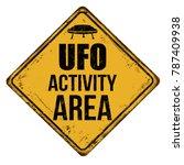ufo activity area vintage rusty ... | Shutterstock .eps vector #787409938