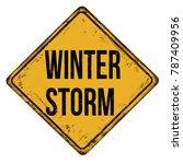winter storm vintage rusty... | Shutterstock .eps vector #787409956