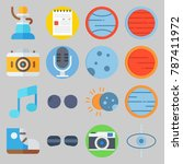 icon set about hippies. with... | Shutterstock .eps vector #787411972