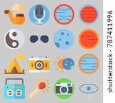icon set about hippies. with... | Shutterstock .eps vector #787411996