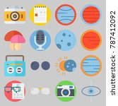 icon set about hippies. with... | Shutterstock .eps vector #787412092