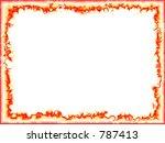 flame frame | Shutterstock . vector #787413