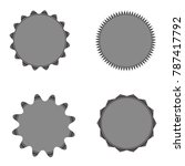 set of vector starburst ... | Shutterstock .eps vector #787417792