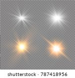 white glowing light burst... | Shutterstock .eps vector #787418956