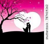 romance background image | Shutterstock .eps vector #787419262