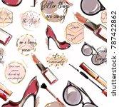 trendy fashion vector wallpaper ... | Shutterstock .eps vector #787422862