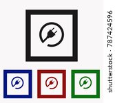 plug in vector icon. image for...