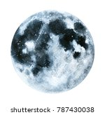 big watercolor moon... | Shutterstock . vector #787430038