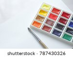 watercolors  brushes for...   Shutterstock . vector #787430326