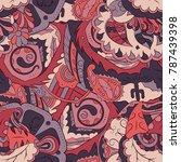 seamless mehndi vector pattern. ... | Shutterstock .eps vector #787439398