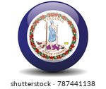 virginia circle button flag...   Shutterstock .eps vector #787441138