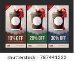coffee to go discount vouchers. ... | Shutterstock .eps vector #787441222