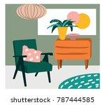 interior design vector... | Shutterstock .eps vector #787444585