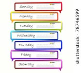 schedule. long sticker in the... | Shutterstock .eps vector #78746599