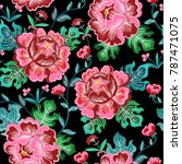 colorful floral seamless vector ... | Shutterstock .eps vector #787471075