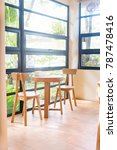 tables near the windows ... | Shutterstock . vector #787478416