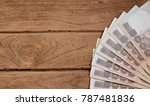 one hundred baht bills on the... | Shutterstock . vector #787481836