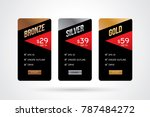 vector of pricing table design... | Shutterstock .eps vector #787484272