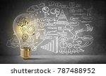 lightbulb with multiple... | Shutterstock . vector #787488952