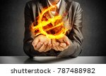 close up of businessman in suit ... | Shutterstock . vector #787488982