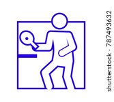 square shape table tennis...   Shutterstock .eps vector #787493632