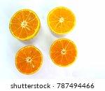 closeup four slice of fresh... | Shutterstock . vector #787494466
