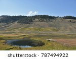 blacktail ponds at yellowstone... | Shutterstock . vector #787494922