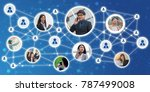 collection of different people... | Shutterstock . vector #787499008